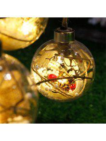 Nuevas Decoraciones Del árbol De Navidad De La Bola De La Lámpara Del LED - Blanco Cálido