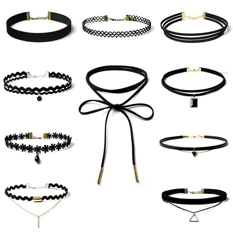 10 Women's Jewelry Set Punk Style Vintage Multielement Choker Jewelry