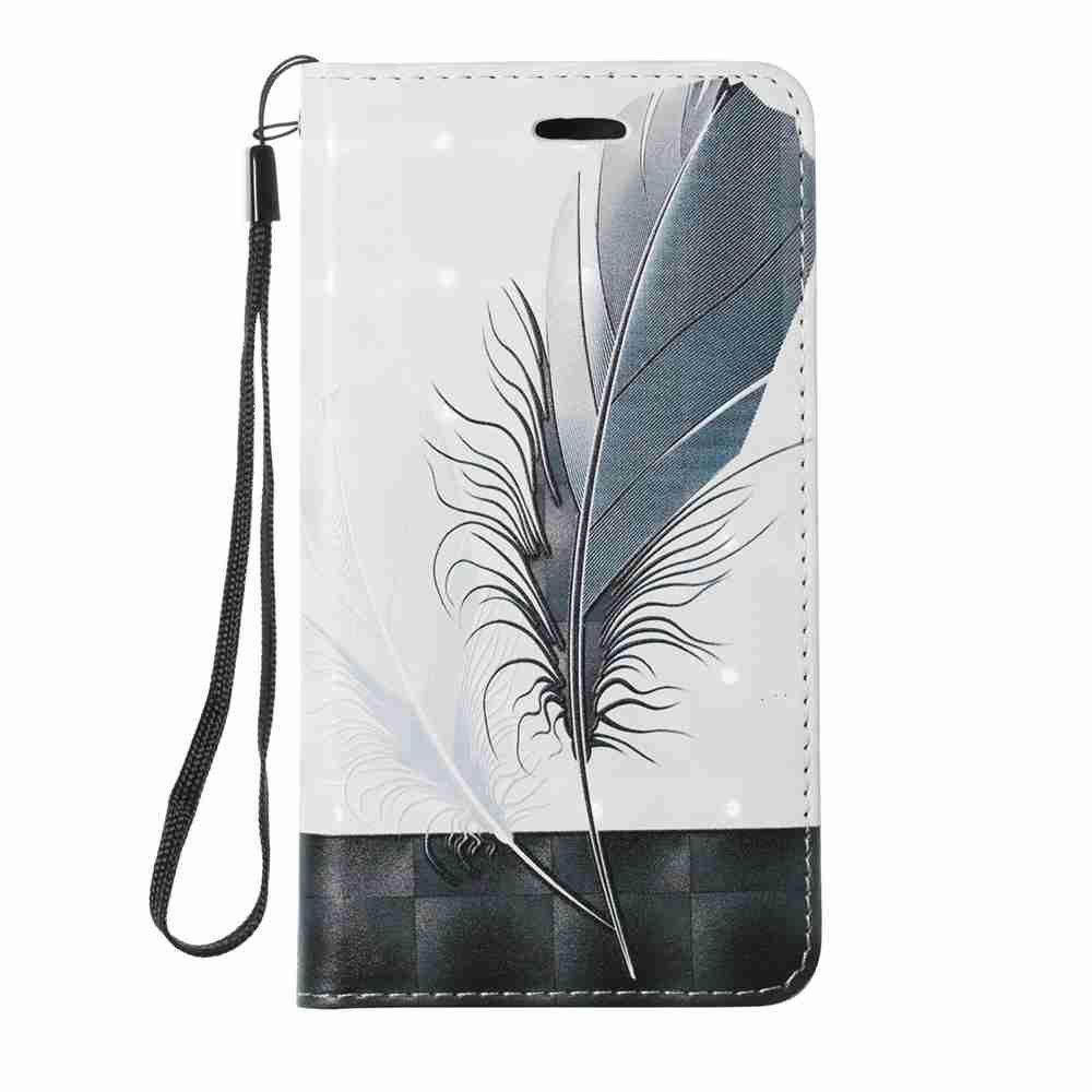 Nouveau Style Magnétique 3D En Relief Peint Cas de Téléphone Pu pour Samsung Galaxy J530