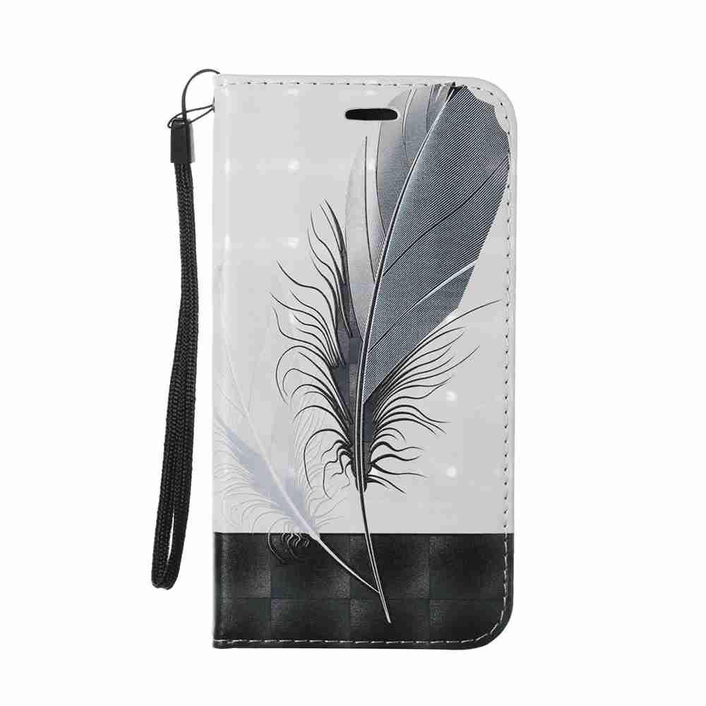 New Style Magnétique 3D En Relief Peint Cas de Téléphone Pu pour Samsung Galaxy J730