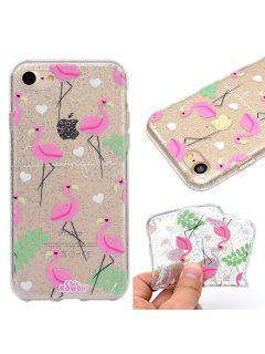 Glitter Shine Process Flamingo Pattern TPU Soft Case Cover For IPhone 7 / 8