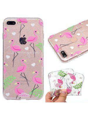 Glitter Shine Process Flamingo Pattern TPU Soft Case Cover for iPhone 7 Plus / 8 Plus