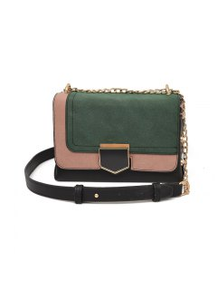 Ladies Autumn Winter Small Square One Shoulder Messenger Chain Bag - Green