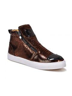 Male Short Boots High Heel Shoes - Golden 40