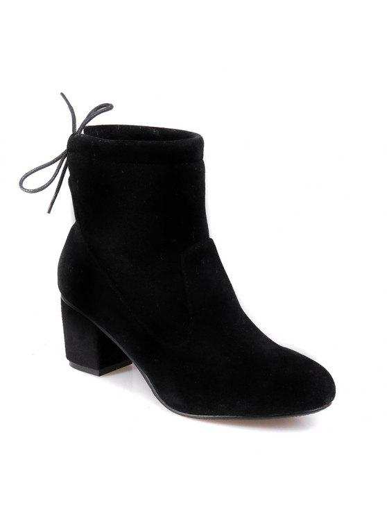 e1b1f427a4 Women's Shoes Fashion Boots Chunky Heel Round Toe Booties Lace-up Casual -  Black 38
