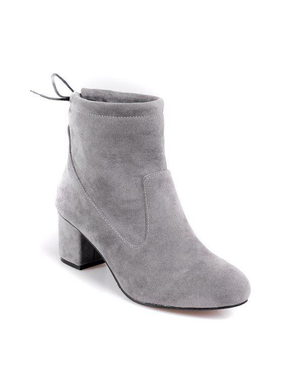 Zapatos de mujer Botas de moda Botines Chunky con punta redonda Botines Casual JqXy9XQ
