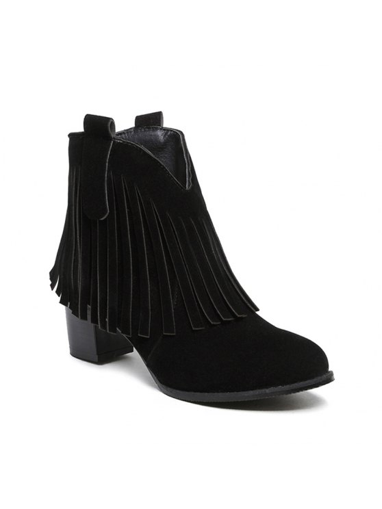 f384b6c839c Women's Shoes Leatherette Winter Fashion Bootie Chunky Heel Round Toe Ankle  Boots Tassel Casual Dress Light Brown BLACK BROWN GRAY