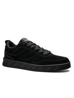 Super Men's Running Shoes Men Fashion Sneakers Mesh Breathable Casual - Black 40
