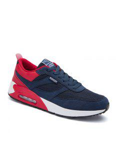 New Men's Running Shoes Men Fashion Sneakers Breathable Casual Sport - Red 40