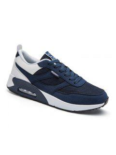 New Men's Running Shoes Men Fashion Sneakers Breathable Casual Sport - Blue + White 40