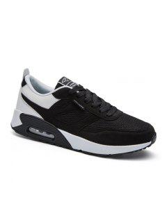 New Men's Running Shoes Men Fashion Sneakers Breathable Casual Sport - Black White 40