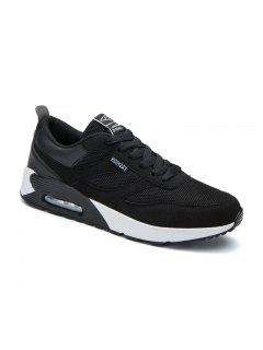 New Men's Running Shoes Men Fashion Sneakers Breathable Casual Sport - Black 43