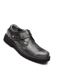 Business Men Shoes Genuine Leather Loafers High Quality Soft Casual Breathable Flats - Gray 38