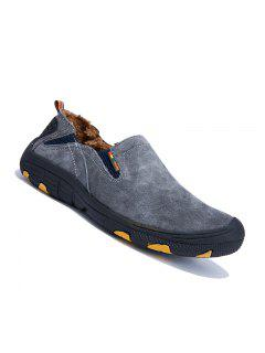 Men Loafers Slip On Male Flats Shoes Hiking Mountain Camping Climbing - Gray 38