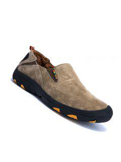Men Loafers Slip On Male Flats Shoes Hiking Mountain Camping Climbing - Khaki 38
