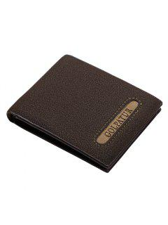 JPT - 1030 Men's Short Wallet Multifunctional Trendy Vintage Bag - Coffee