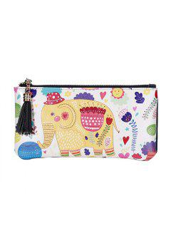 3 - C050 Fashion Elephant Pattern Painted Leather Wallet