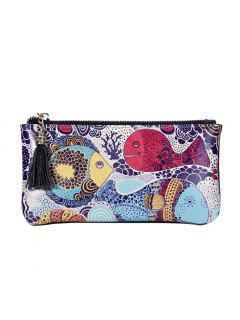 3 - C050 Fashion Trend Big Fish Design Painted Leather Wallet