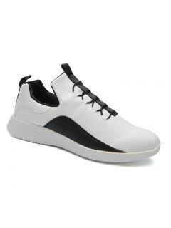 Fall Men's  Leather Taller Running Shoes - White 40