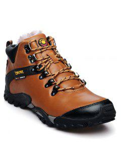 Zapatos De Escalada Al Aire Libre De Cuero Masculino - Marrón Claro 40