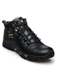 ذكر أحذية جلدية تسلق في الهواء الطلق - أسود 43