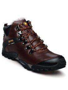 ذكر أحذية جلدية تسلق في الهواء الطلق - براون العميق 43