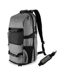 Men'S Backpack Laptop Bag Outdoor Sports - Grey