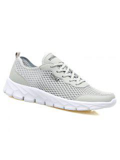 Big Size Couple Style Air Mesh Shoes - Light Gray 36