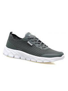 Big Size Couple Style Air Mesh Shoes - Deep Gray 45