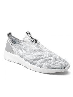 Slip On Light Breathable Sneakers - Gray 44