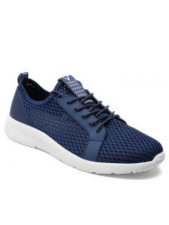 Light Breathable Men Sneakers - Blue 40
