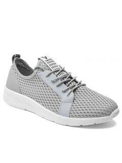Light Breathable Men Sneakers - Gray 40