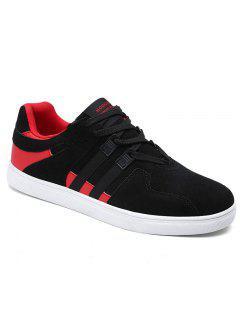 Automne Mode Hommes Chaussures Plates - Noir&rouge 40