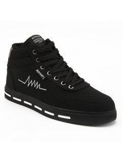 Chaussures Plates Chaudes Hautes Vamp D'hiver - Noir 44