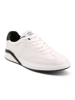 Zapatos Planos Cómodos De Los Hombres De La Moda - Blanco 40