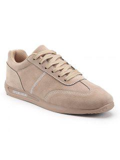 Solide Casual Hommes Chaussures Plates - Abricot 40
