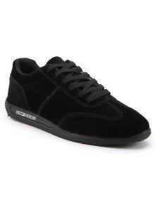 الصلبة الرجال الأحذية المسطحة عارضة - أسود 43