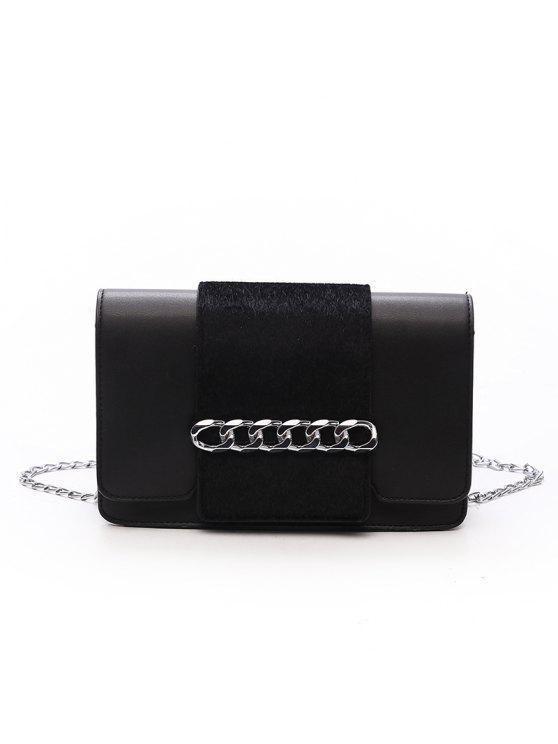 Casual Fashion Simple Small Shoulder PU Leather Cross Body para sacos para mulheres - Preto