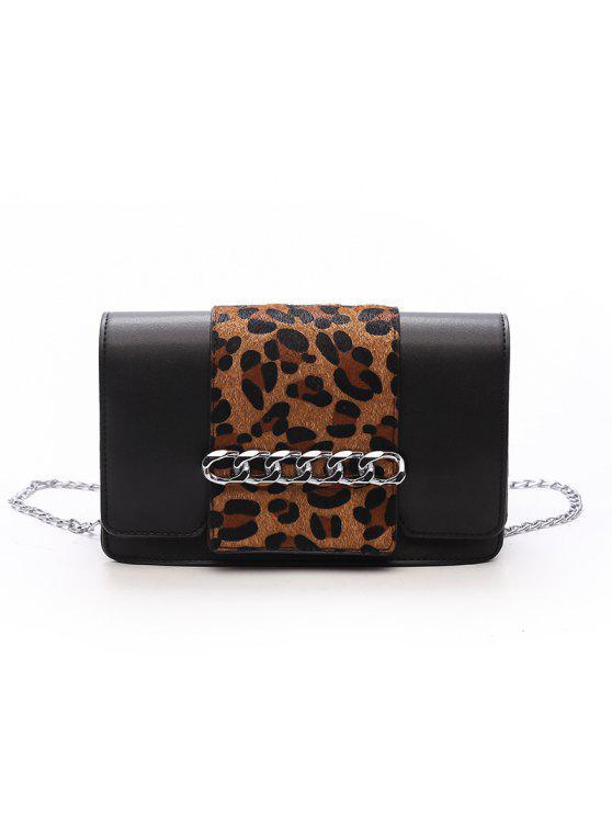 Casual Fashion Simple Small Shoulder PU Leather Cross Body para sacos para mulheres - Padrão de Impressão de Leopardo