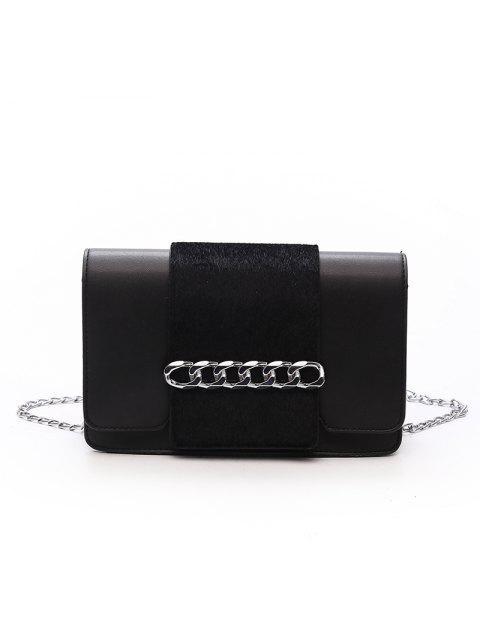 Lässige Mode Einfache Kleine Schulter PU Leder Cross Body für Frauen Taschen - Schwarz  Mobile