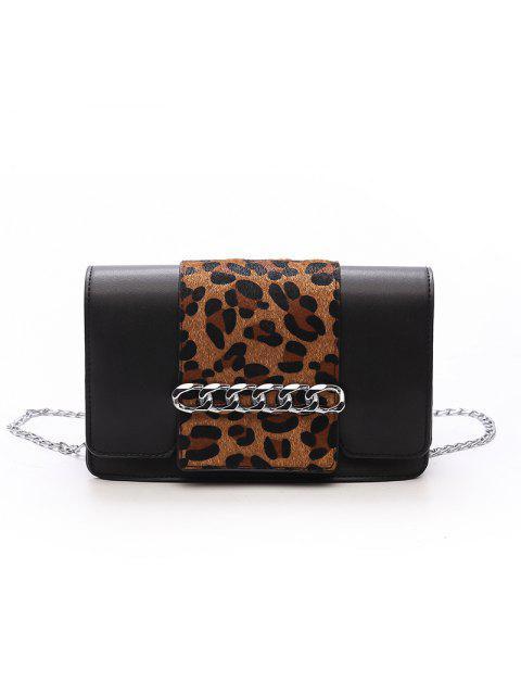 Lässige Mode Einfache Kleine Schulter PU Leder Cross Body für Frauen Taschen - Leopard Print Muster  Mobile