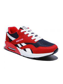 New Men'S Running Shoes Men Fashion Sneakers Mesh Breathable Shoes - Red 40