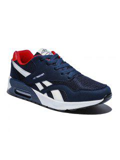 New Men'S Running Shoes Men Fashion Sneakers Mesh Breathable Shoes - Deep Blue 42