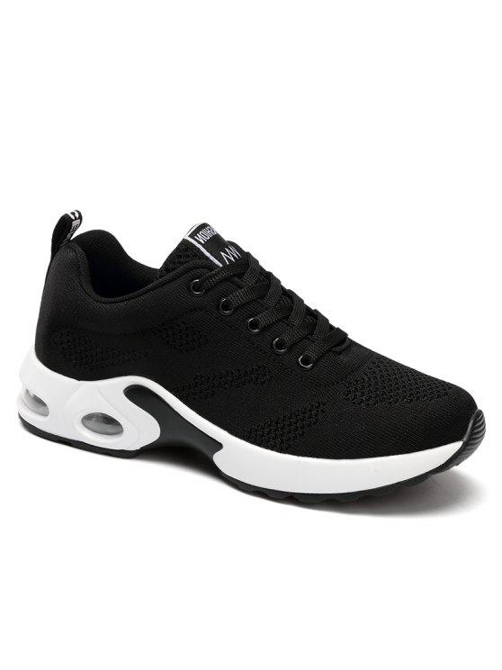 Zapatillas de deporte confortables con comodidad y amortiguación para mujer - Negro 38