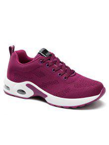 المرأة وسادة تنفس الراحة الأحذية الرياضية - أرجواني 39