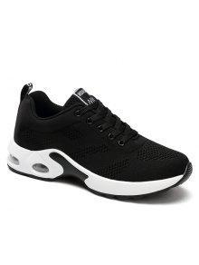 المرأة وسادة تنفس الراحة الأحذية الرياضية - أسود 37