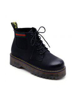 Winter New Round Head With Female Boots - Black 36
