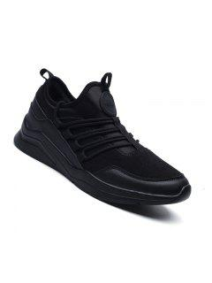 Men Casual Fashion Outdoor Travel Mesh Breathable Shoes Size 39-44 - Black 40
