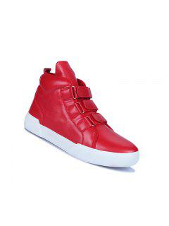 Men Casual Fashion Outdoor Travel Winter Warm Leather Boots Size 39-44 - Red 40