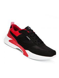 Los Hombres De Moda Casual Al Aire Libre De Invierno Autmn Mesh Warm Shoes Tamaño 39-44 - Rojo 43